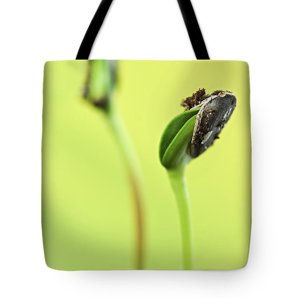 Green sprouts Tote Bag by Elena Elisseeva