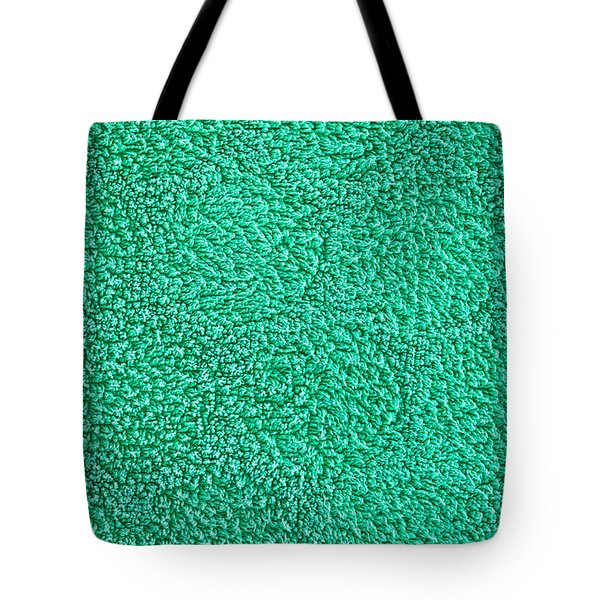 Green Towel Tote Bag by Tom Gowanlock