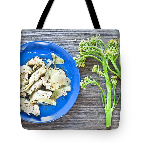 Grilled Artichoke And Brocolli Tote Bag by Tom Gowanlock