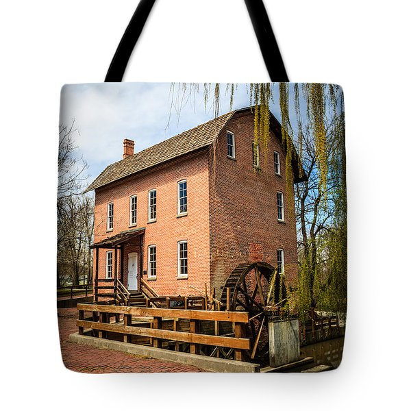 Grist Mill in Deep River County Park Tote Bag by Paul Velgos