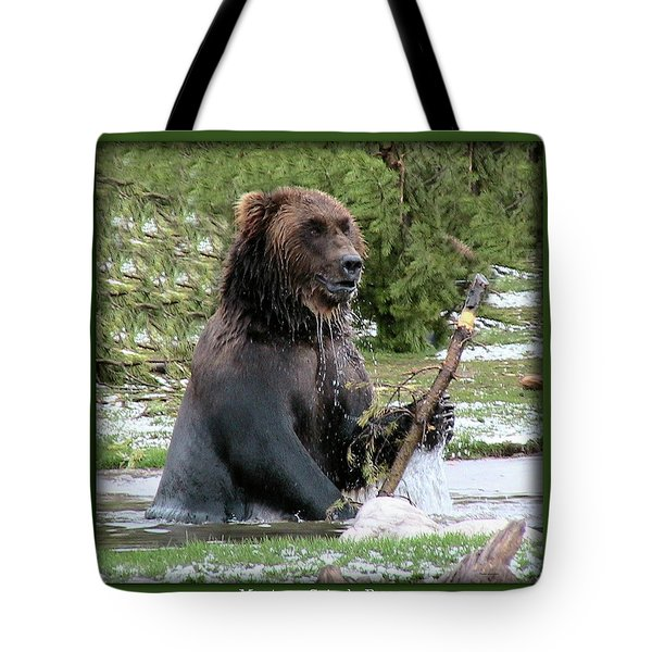 Grizzly Bear 07 Tote Bag by Thomas Woolworth