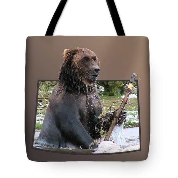 Grizzly Bear 6 Out of Bounds Tote Bag by Thomas Woolworth