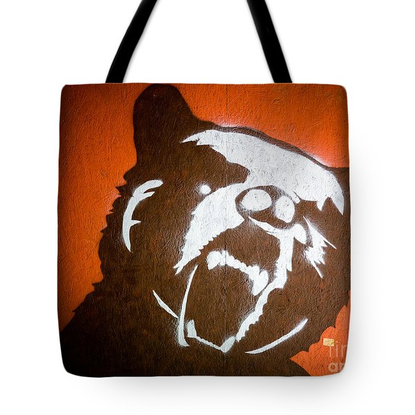 Grizzly Bear Graffiti Tote Bag by Edward Fielding