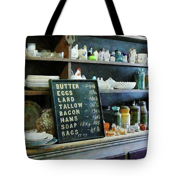 Groceries in General Store Tote Bag by Susan Savad