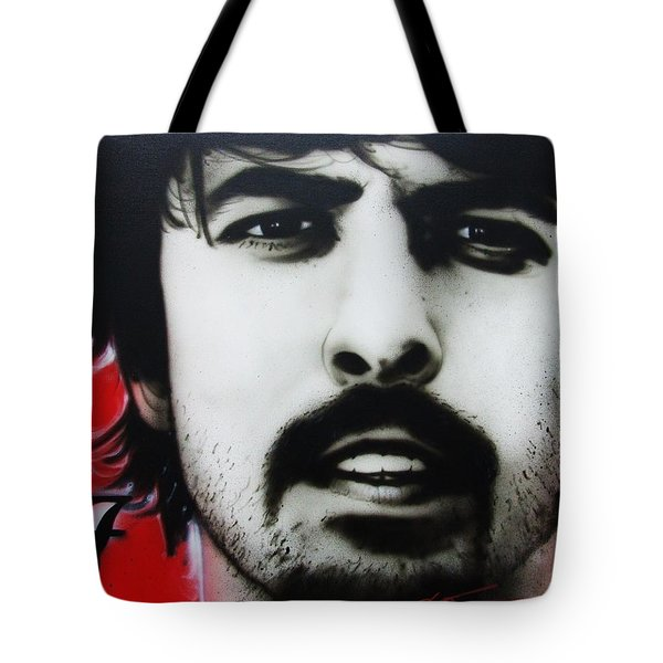 'Grohl' Tote Bag by Christian Chapman Art