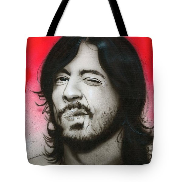 'Grohl III' Tote Bag by Christian Chapman Art