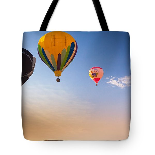 Group Of Balloons Tote Bag by Inge Johnsson