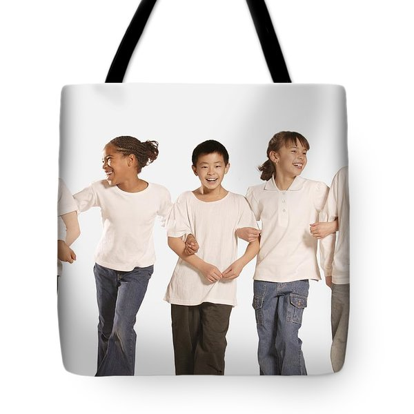 Group Of Children Tote Bag by Don Hammond