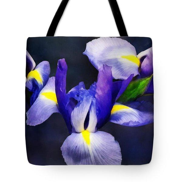 Group Of Japanese Irises Tote Bag by Susan Savad