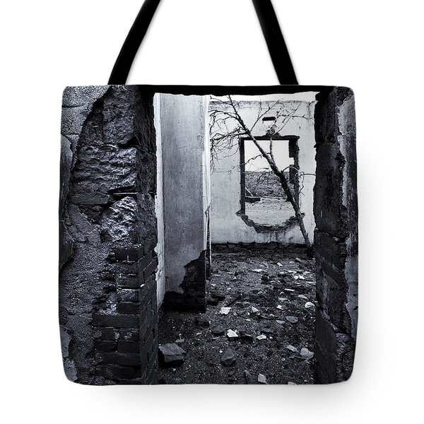 Growing Out Of Ruin Tote Bag by Mike  Dawson