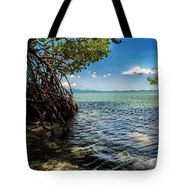 Guamache Beach Venezuela Panorama Tote Bag by Mountain Dreams