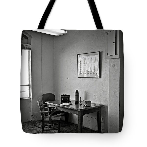 Guard dining area in Alcatraz prison Tote Bag by RicardMN Photography