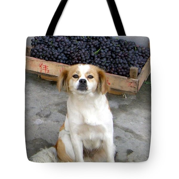 Guardian Of The Grapes Tote Bag by Barbie Corbett-Newmin