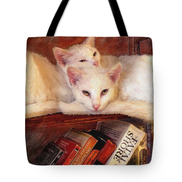 Guardians Of The Library Tote Bag by Jane Schnetlage