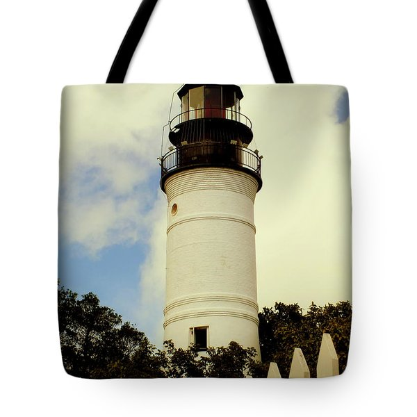 Guiding Light Of Key West Tote Bag by Karen Wiles