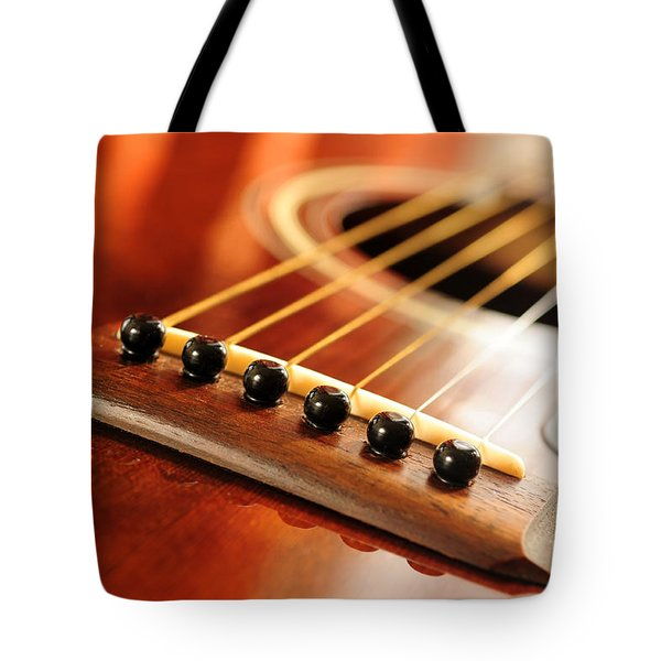 Guitar bridge Tote Bag by Elena Elisseeva