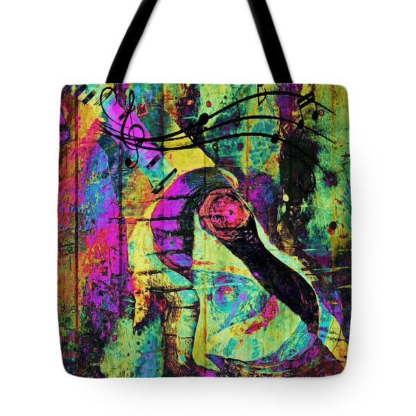 Guitar Improvisation Tote Bag by Catherine Harms
