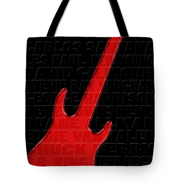 Guitar Players 1 Tote Bag by Andrew Fare