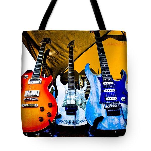 Guitar Trio Tote Bag by David Patterson