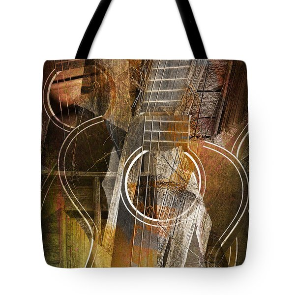 Guitar Works Tote Bag by Randall Nyhof