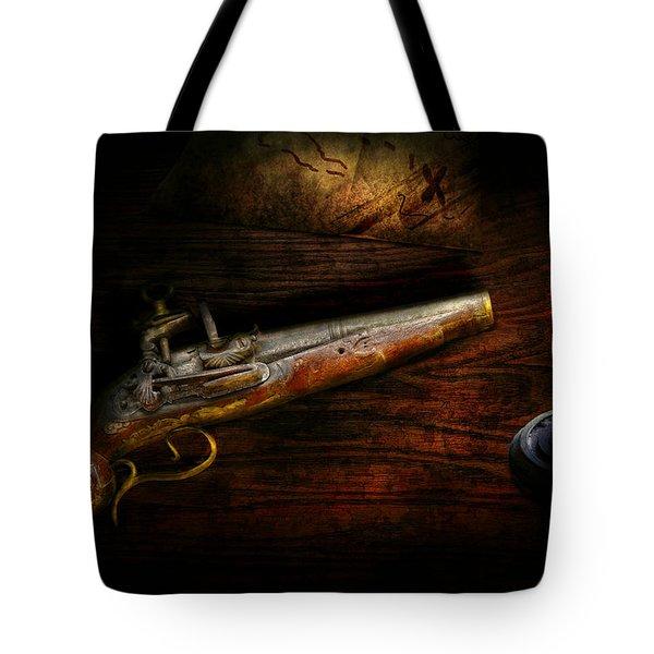 Gun - Pistol - Romance Of Pirateering Tote Bag by Mike Savad