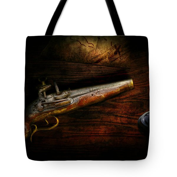 Gun - Pistol - Romance of pirateering Tote Bag by Mike Savad
