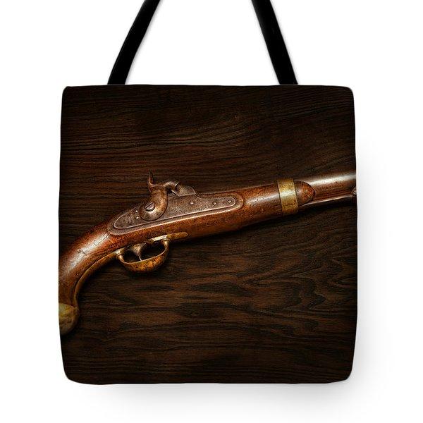 Gun - US Pistol Model 1842 Tote Bag by Mike Savad