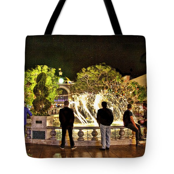 Guys At The Grove Tote Bag by Chuck Staley