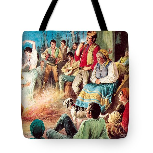 Gypsies Partying Tote Bag by English School