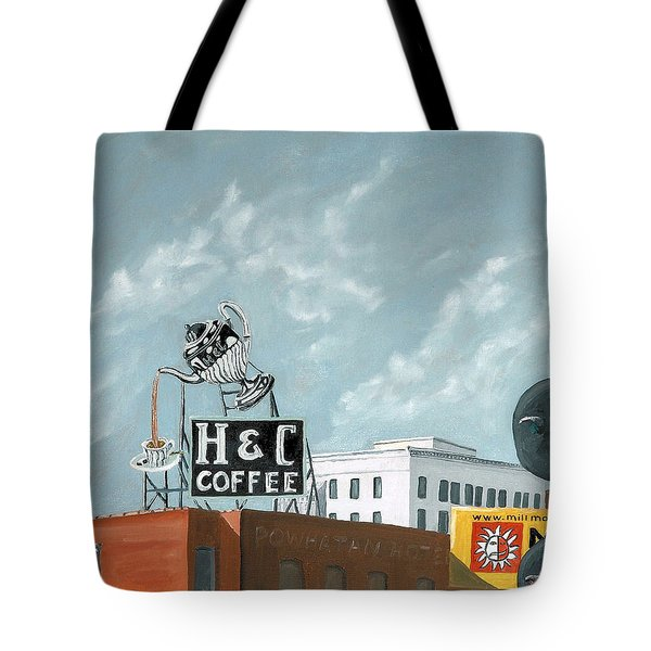 H And C Coffee Tote Bag by Todd Bandy