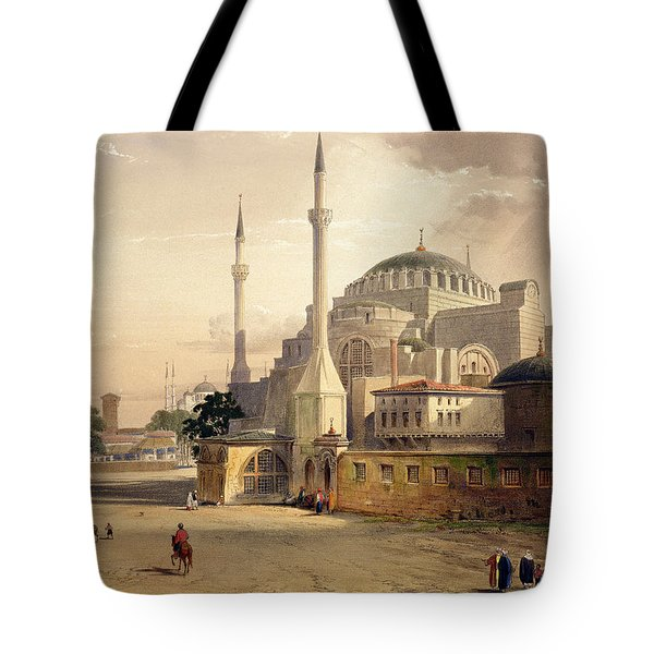 Haghia Sophia, Plate 17 Exterior View Tote Bag by Gaspard Fossati