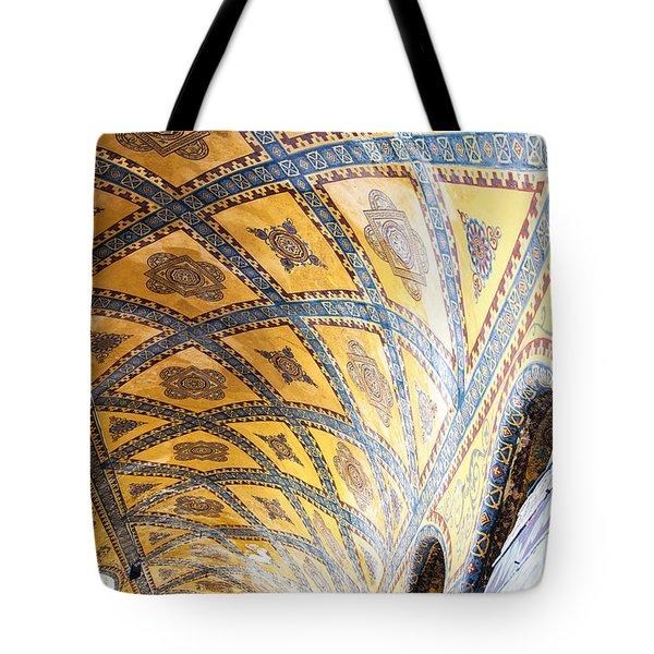 Hagia Sofia Interior 16 Tote Bag by Antony McAulay