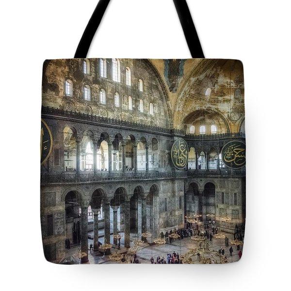 Hagia Sophia Interior Tote Bag by Joan Carroll