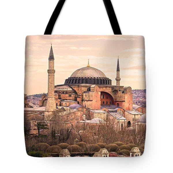Hagia Sophia Mosque - Istanbul Tote Bag by Luciano Mortula