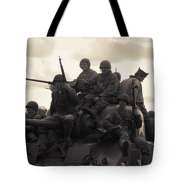 Hail To The Victors Tote Bag by Lyle Hatch