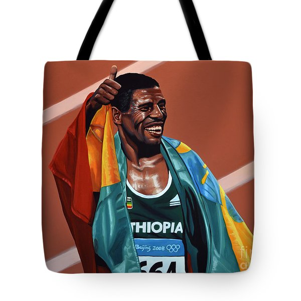 Haile Gebrselassie Tote Bag by Paul  Meijering