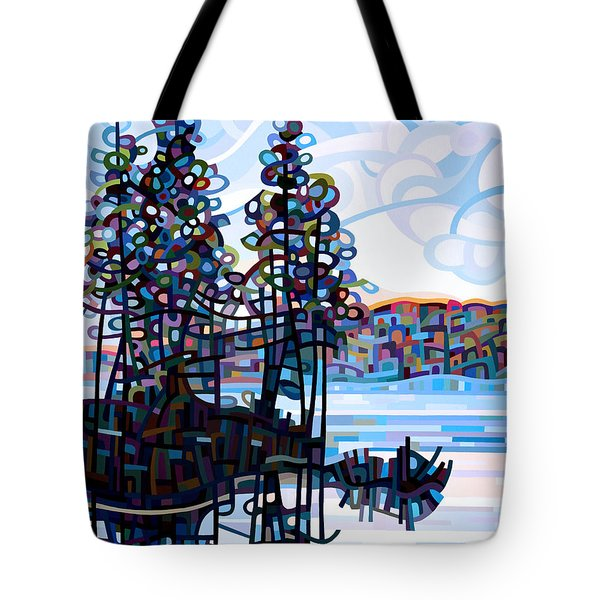 Haliburton Morning Tote Bag by Mandy Budan