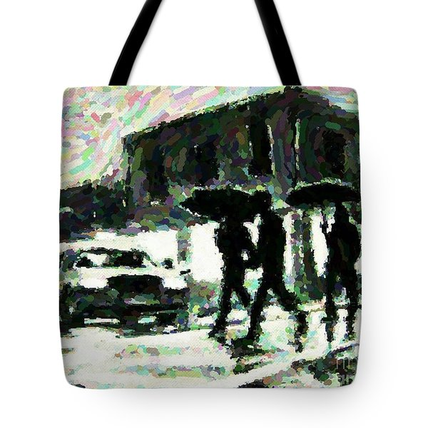 Halifax In The Rain One Tote Bag by John Malone