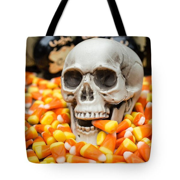 Halloween Candy Corn Tote Bag by Edward Fielding
