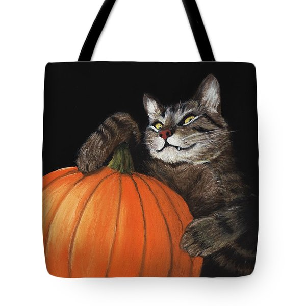Halloween Cat Tote Bag by Anastasiya Malakhova