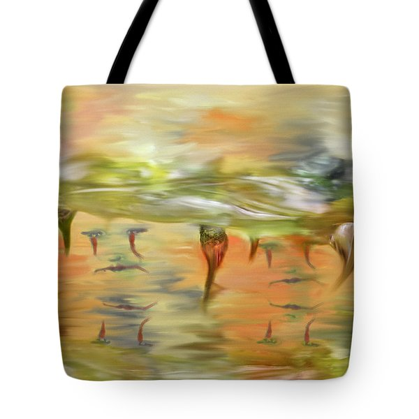 Halloween Clown Morning Tear Drops Reflection Tote Bag by Angela A Stanton