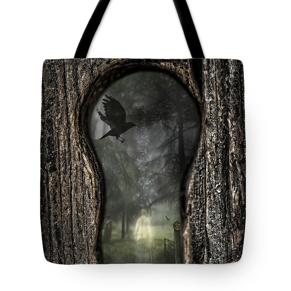 Halloween Keyhole Tote Bag by Amanda And Christopher Elwell
