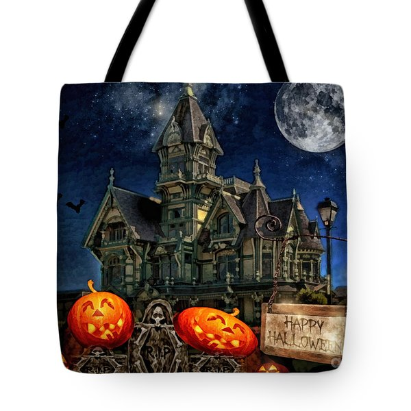 Halloween Spot Tote Bag by Mo T