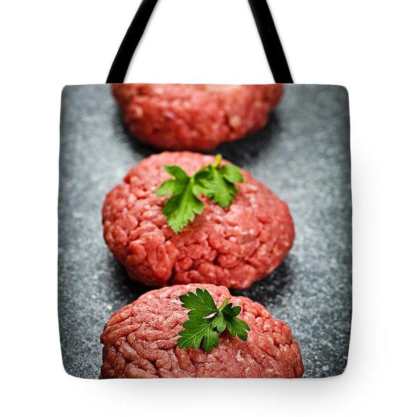 Hamburger patties Tote Bag by Elena Elisseeva