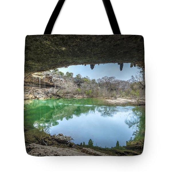 Hamilton Pool Tote Bag by David Morefield