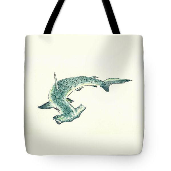 Hammerhead Shark Tote Bag by Michael Vigliotti