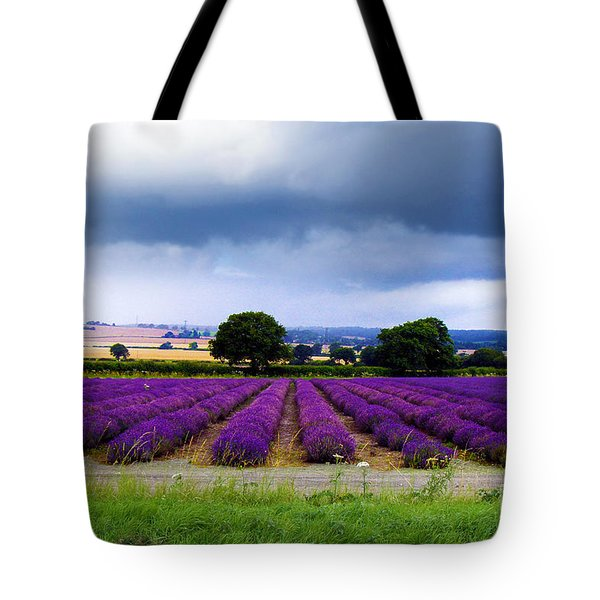 Hampshire Lavender Field Tote Bag by Terri  Waters