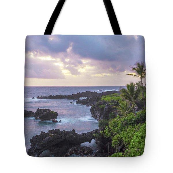 Hana Arches Sunrise 3 - Maui Hawaii Tote Bag by Brian Harig