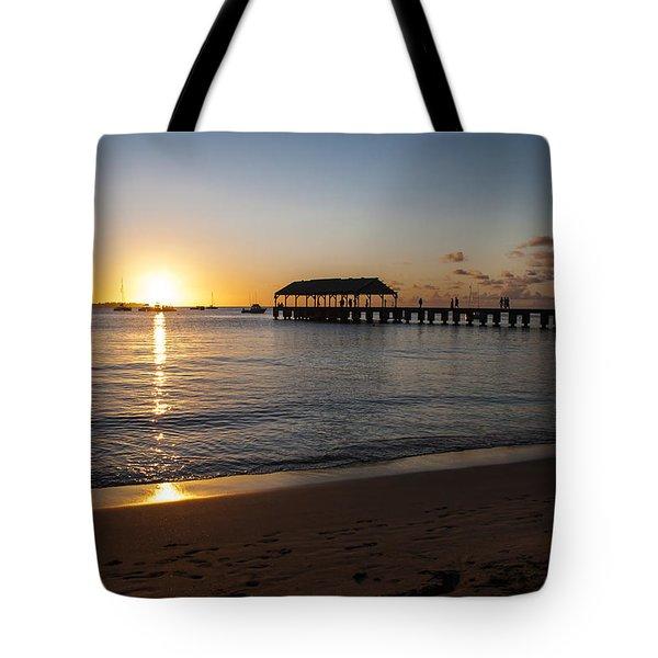Hanalei Bay Sunset Tote Bag by Brian Harig