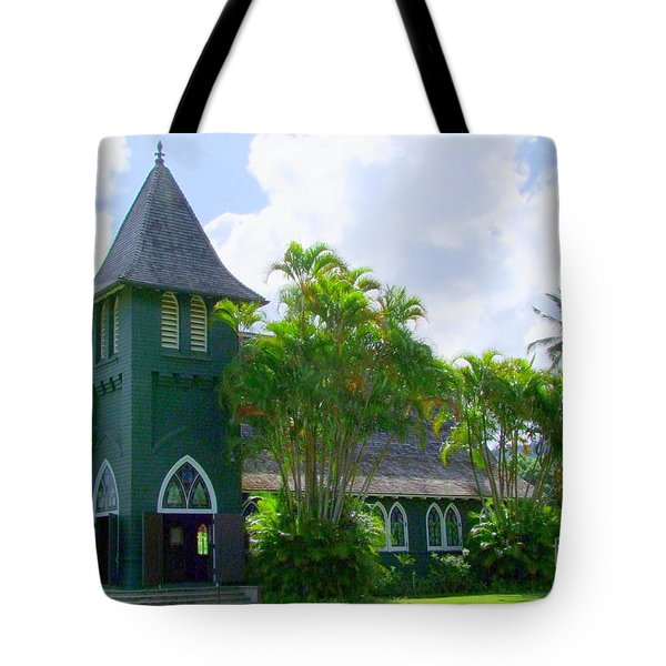 Hanalei Church Tote Bag by Mary Deal